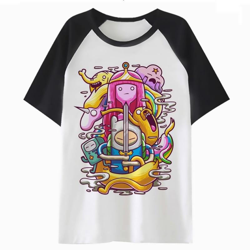 Tempo aventura Camiseta T Da Forma Tshirt Hip Hop Homens Mulheres Harajuku Top T-shirt Streetwear Masculino Feminino Para A Roupa