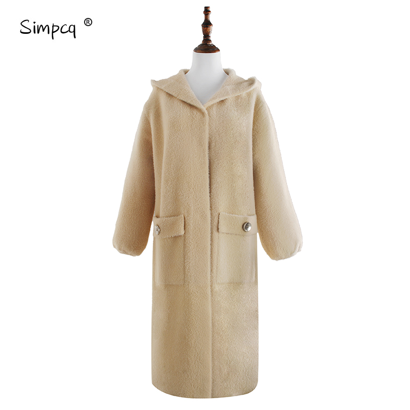 Sobretudo Wool Long Hot Sale Abrigo Mujer Fluffy Faux Coat Women Furry Fake Winter Outerwear Autumn