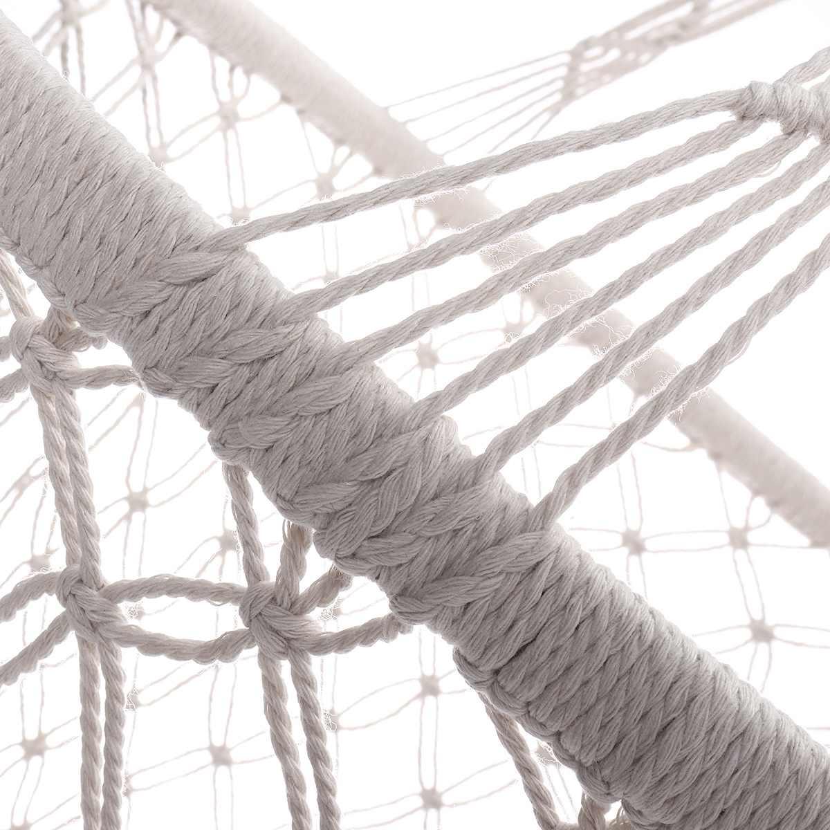 Corde de coton gland hamac chaise balançoire hamac enfants bascule sommeil lit intérieur extérieur suspendu seste enfant balançoire siège - 3