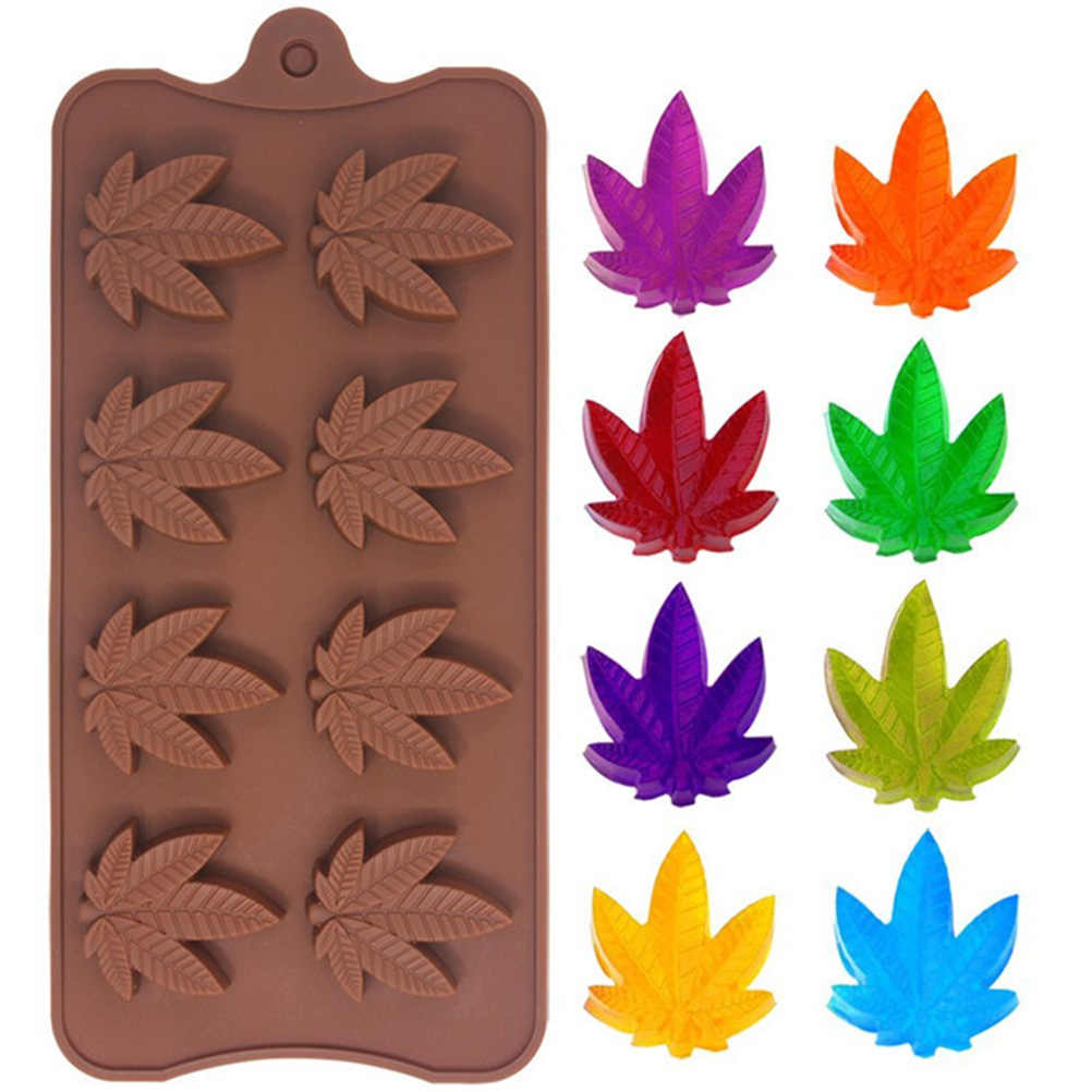 2pcs Tree Leaves Soap Chocolate Cookies Ice Cube Silicone Mold DIY Chocolate Mold 8 Maple Leaves Mold Kitchen Tool
