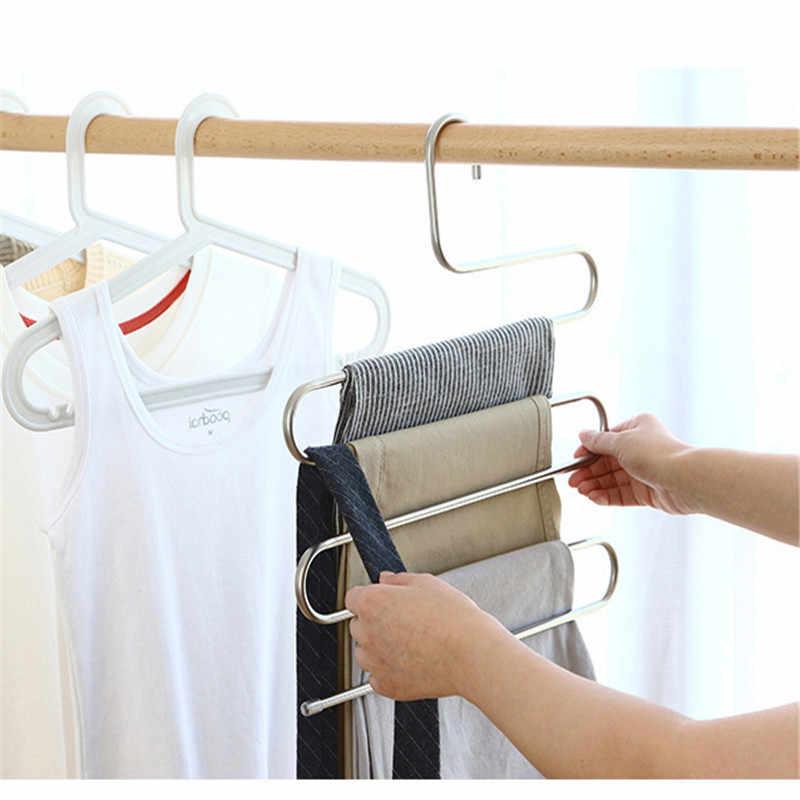 Mrosaa S ประเภทกางเกงแขวนกางเกง Multi ชั้นสแตนเลสเสื้อผ้าผ้าเช็ดตัว Rack Closet Space Saver