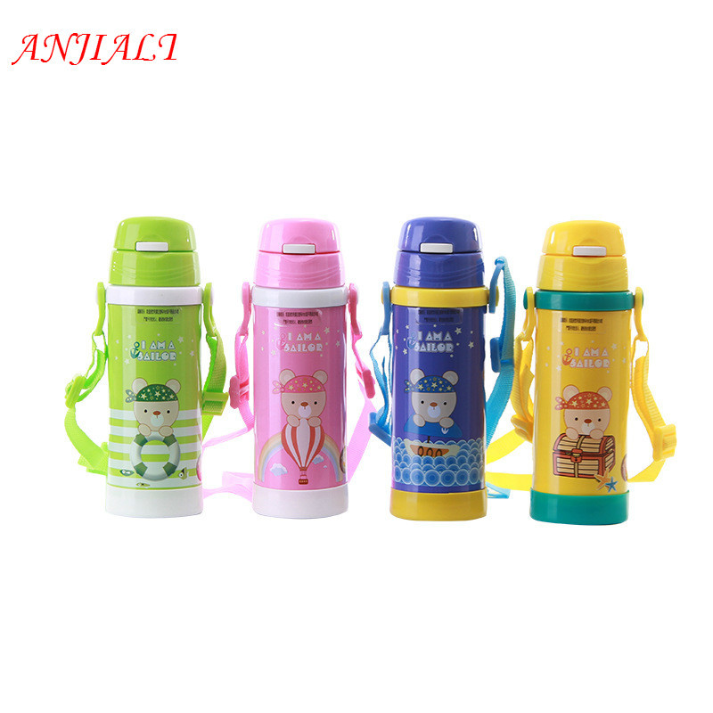 Us18 Thermal Flask Steel Bottle Child Mug Kids In School 59500ml Travel Stainless Thermos Baby Water Termos Thermo Vacuum Cup Insulated cjS53AqRL4