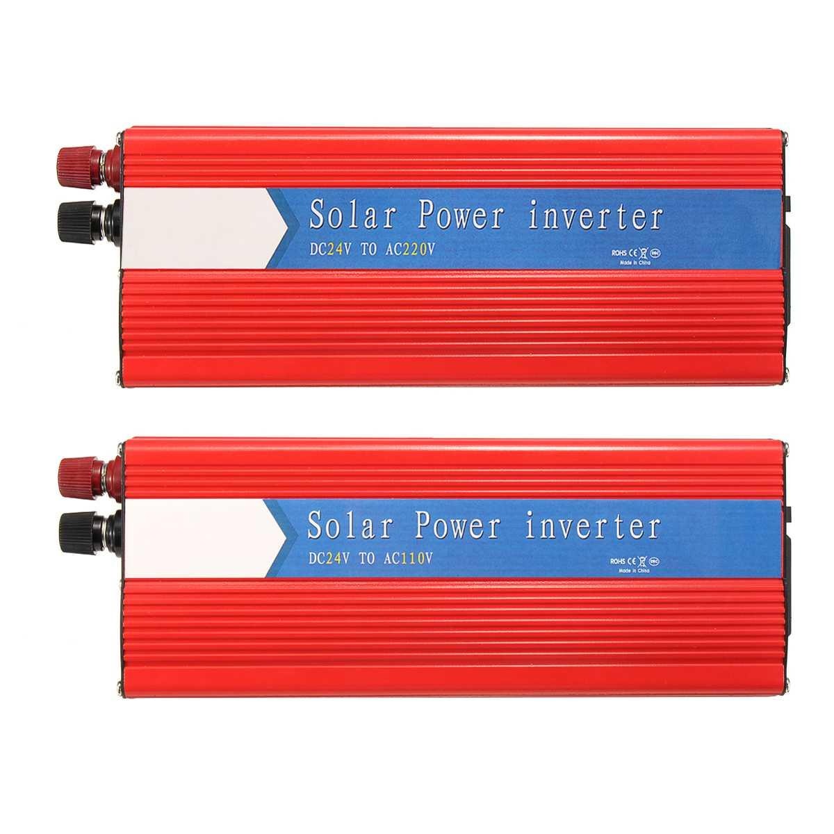10000 W voiture onduleur 12/24 V à AC 220/110 V USB modifié convertisseur à onde sinusoïdale robuste Durable rouge universel Intelligent - 6