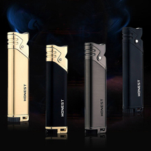 Long Slender and Compact Butane Jet Lighter Turbine Torch Metal Fire air gun 1300 C no gas Cigars for cigarettes