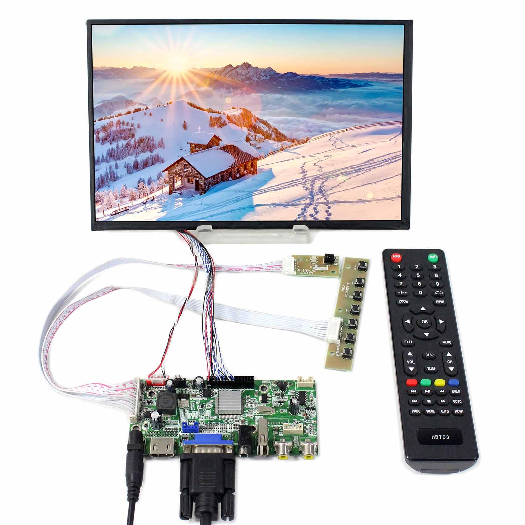 HDMI+VGA+AV+USB LCD Controller Board VS-V59AV-V1 work with 10.1inch M101NWWB 1280X800 LCD ScreenHDMI+VGA+AV+USB LCD Controller Board VS-V59AV-V1 work with 10.1inch M101NWWB 1280X800 LCD Screen
