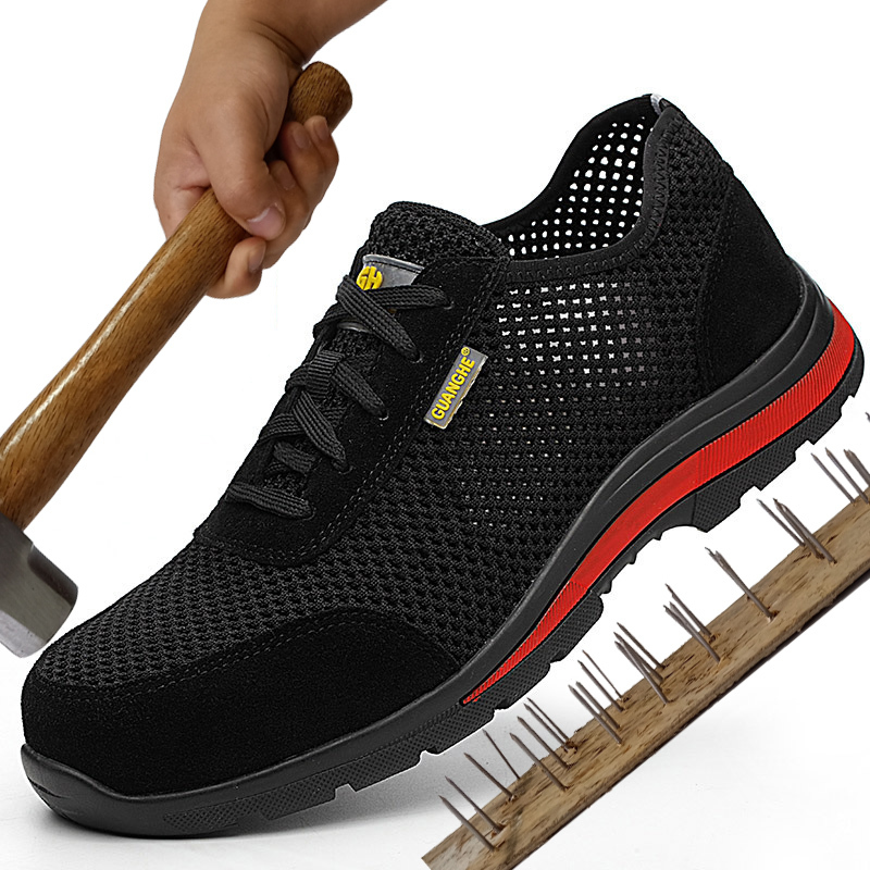 Chaussures de sécurité indestructibles pour hommes chaussures à embout en acier léger chaussures de travail pour hommes Krasovka Erkek Sneaker homme bottes décontractées