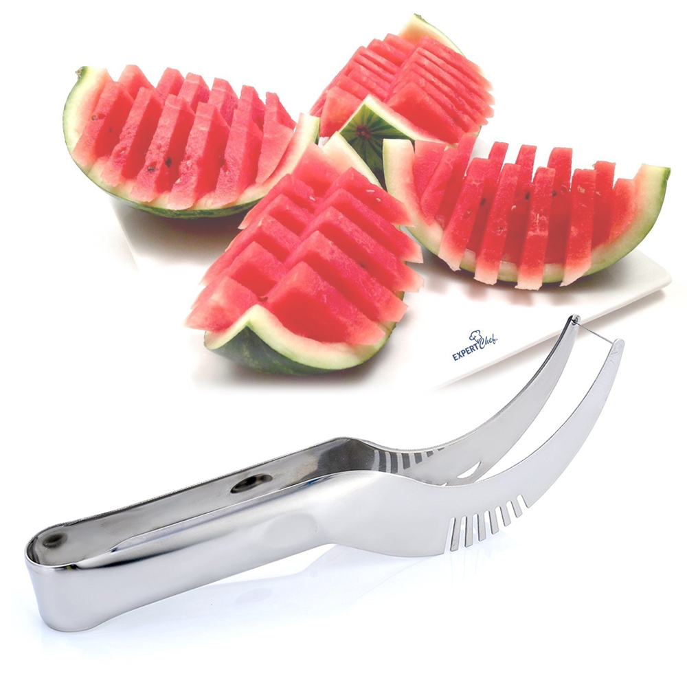 Stainless Steel Watermelon Slicer Fruit Fast Cutter Knife Corer Fruit Vegetable Tools Kitchen Cutting Accessories High Quality