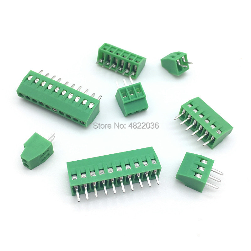 10pcs KF128 2.54mm PCB Mini Screw Terminal Block KF128-2.54 2P 3P 4P 5P 6P 7P 8P 9P 10P 12P 14P 16P Splice Terminal KF120-2.54