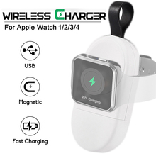 New Magnetic Wireless Charger for Apple Watch 4 3 2 1 Portable Charging USB iWatch Series
