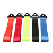 Car Modification Personalized Traction Rope High Strength Nylon Tow Rope Front Bumper Trailer Hook Decoration Accessories abs metal colorful tow hook allen wrench car auto trailer decorative tow hook universal for truck suv front bumper automotive