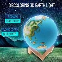 3D Print Globe Lamp Moon Light 3D Glowing Earth Lamp With Stand Earth Moon Lamp Night Light for Home Bedroom Decor Children Gift