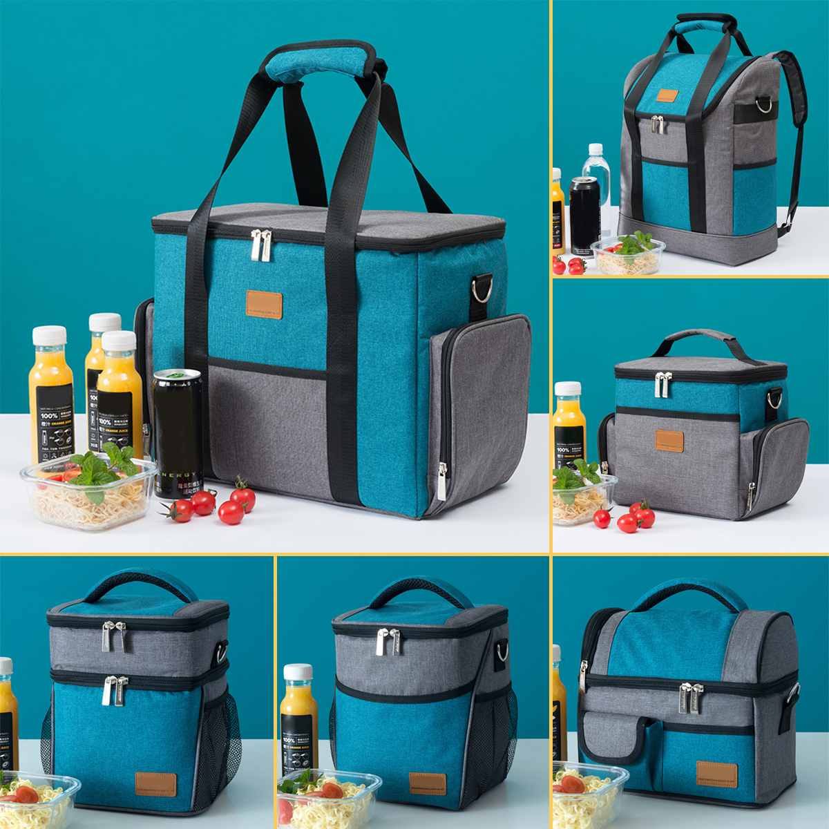 6 Size Oxford Fabric Oxford Lunch Bag Women Kids Outdoor Insulated Cooler Box Thermal Food Picnic Bento Tote Case Accessories