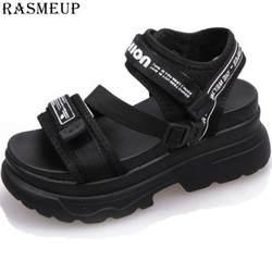 RASMEUP/женские сандалии-гладиаторы на платформе, лето 2019, модные женские пляжные сандалии на массивном каблуке, удобная повседневная женская