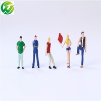 1box/lot 1/64 architecture model plastic scale resin street figure in the model building