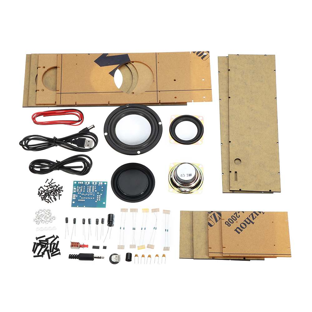 LEORY DIY USB Stereo Speaker Production Kit DC 5V Heavy Bass 2.1 Channel Active Audio Set