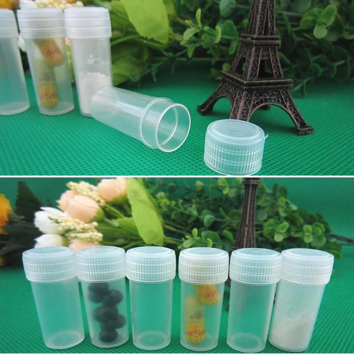 400 шт 5 мл пластиковые пробирки флаконы проба контейнер порошок ремесло бутылки с колпачками для офиса школы химии поставки