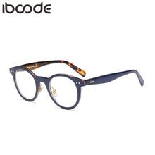 iboode New Reading Glasses Women Men Hyperopia Presbyopic Eyeglasses Round Metal Nail Decor Frame Resin Lens Magnifying Eyewear