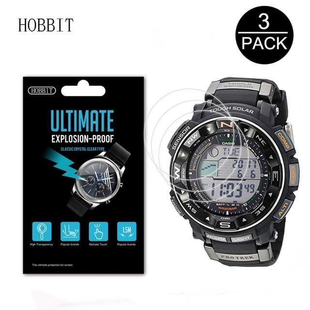 17aa47507ee 3Pack Explosion-Proof Digital Watch Screen Protector For Casio Pro Trek PRW-3500  PRW