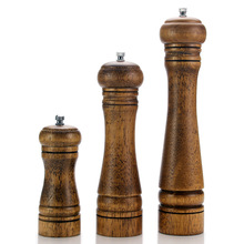 Pepper Grinders Mill-Set Salt-Shakers Wood Ceramic And with Adjustable Rotor-5/8/10-inches