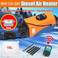 Car Heater 5KW 12V/24V Air Diesels Heater Parking Heater With Remote Control LCD Monitor For RV, Motorhome Trailer, Trucks, Boat