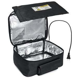 Image 5 - 220 v/110 v מיני אישי נייד הצהריים תנור תיק מיידי מזון דוד חם חשמלי תנור PE סגסוגת חימום תיבת הצהריים משרד