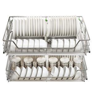 Image 3 - Armario spiżarnia Rangement Organizer i Despensa Gabinete ze stali nierdzewnej Cozinha kuchnia stojak kuchnia do przechowywania w szafce kosz