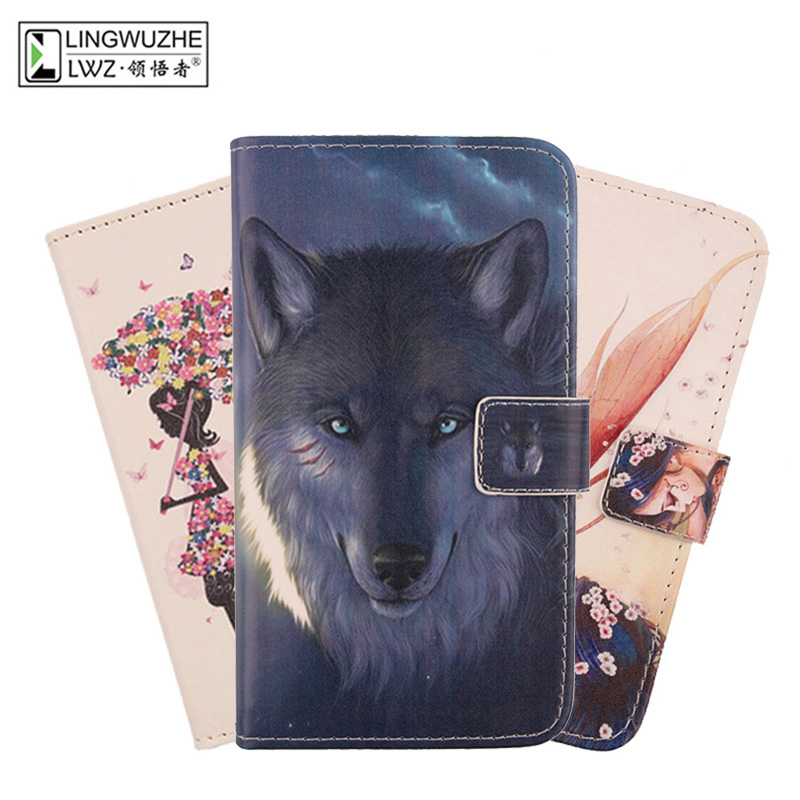 For Doogee S40 Case 5.5 inch Leather Flip With Card Packet Bags Phone Case For Doogee S40 Coque(China)