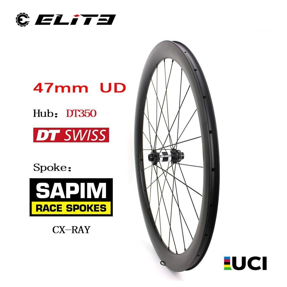 700c Carbone fibre de Gravier Roue De Vélo Avec DT Suisse 350 6-Boulon ou Center Moyeu De Verrouillage Cyclocross Roues