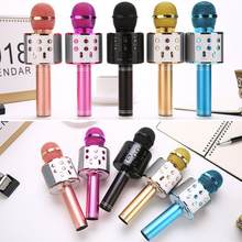 WS-858 Wireless Bluetooth Microphone Karaoke Handheld Microphone USB KTV Bluetooth Mic Speaker Record Music Microphones #7(China)