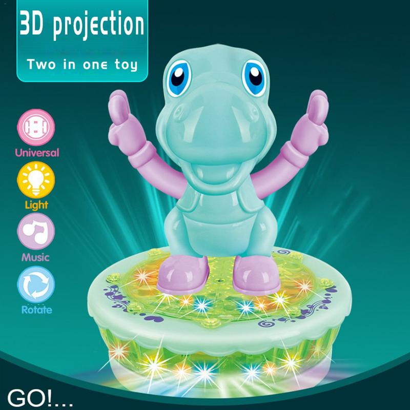 Baby Color Cartoon Projection Toys Electric Sound And Light Music Projection Cartoon Rotating Toy Car Universal Toy Car