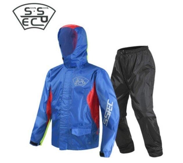 2018 Moto équitation imperméable Moto pantalon de pluie costume adulte Split extérieur respirant imperméable à la pluie livraison gratuite offre spéciale