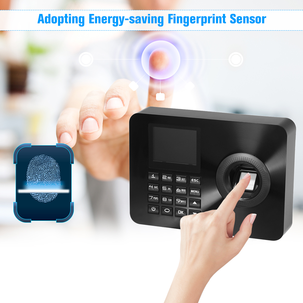 Biometric Fingerprint Time Attendance Clock Recorder Employee Recognition Device Electronic Checking in Machine