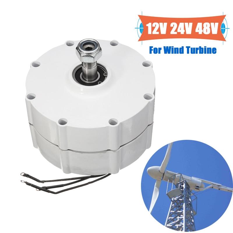 Wind Generator Motor 800W 12V 24V 48V High efficiency For DIY Wind Turbines Blade Controller 3 Phase Current PMSGWind Generator Motor 800W 12V 24V 48V High efficiency For DIY Wind Turbines Blade Controller 3 Phase Current PMSG