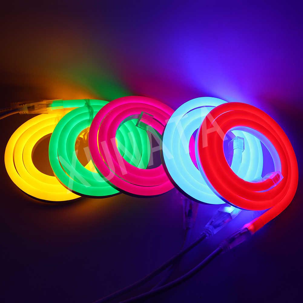 12 V RGB Neon Ánh Sáng Set SMD 5050 RGB Neon Sign LED Dải Ánh Sáng Chiếu Sáng Với 24 Chìa Khóa Từ Xa + cung Cấp điện 1 m ~ 10 m