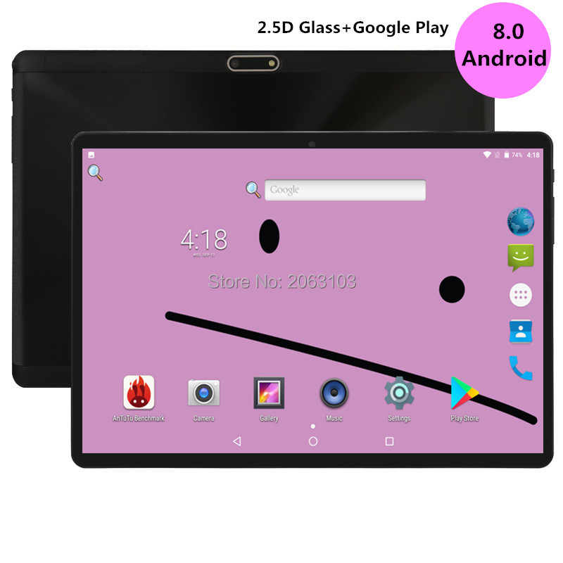 2.5D Tablet PC 10.1 Inch G900 1280*800 Android 8.0 MT8752 CPU Dual Camera Dual SIM Dual WIFI GPS Phone Call Tablet PC TF Card