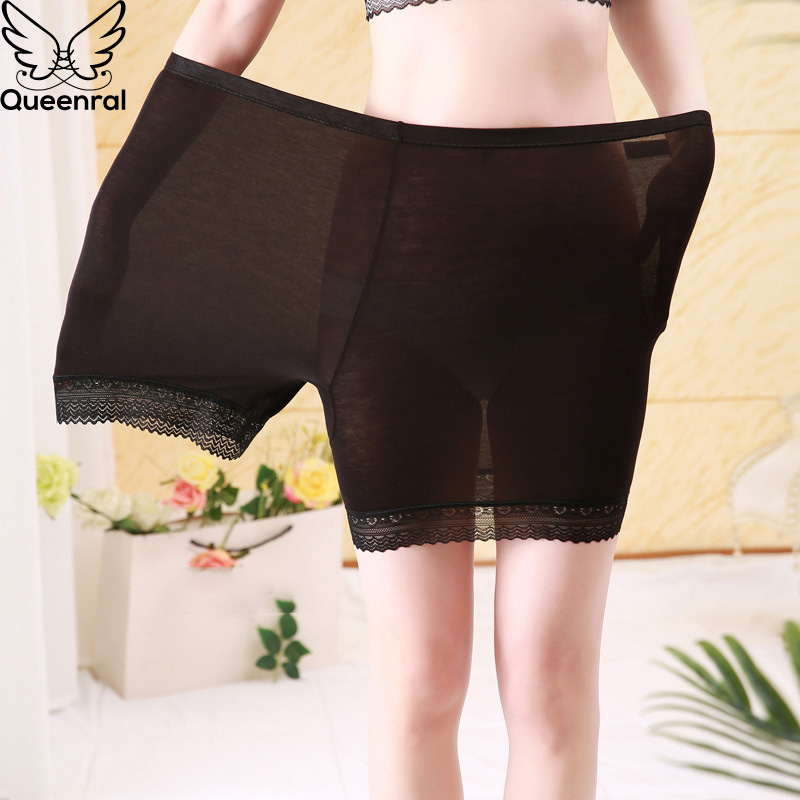 Queenral Safety Short Pants For Women Plus Size Panties Underwear High Waist Panties Seamless Boxers Safety Shorts Breathable