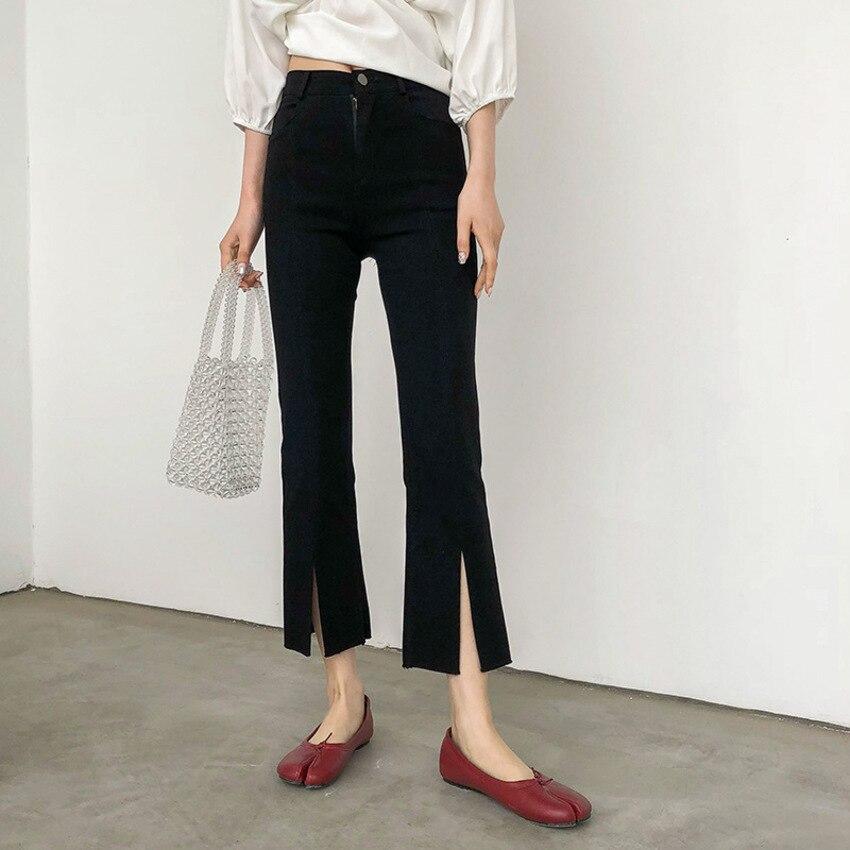 Summer   Pants   Women Elastic Slim High Waist   Wide     Leg     Pants   Female Trousers Casual Office Ladies   Pants