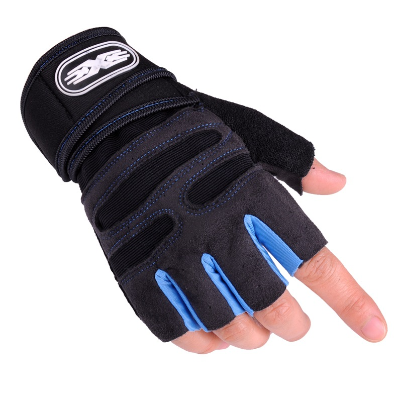 Fitness Half-finger Gloves Black Breathable Design Non-slip Quick-drying Thin Gloves Unisex