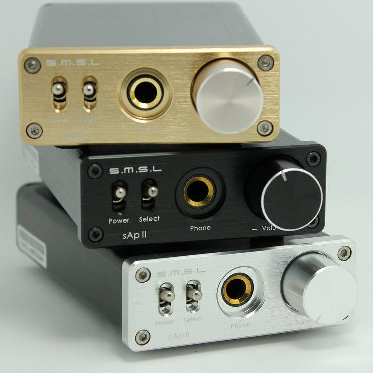 D'origine SMSL nouvelle mise à niveau sApII Pro TPA6120A2 Grande Puissance Stéréo Haute Fidélité amplificateur de casque noir