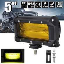 5 Inch 72W 1300LM LED Car Work Light Bar Flood Spot Combo Fo