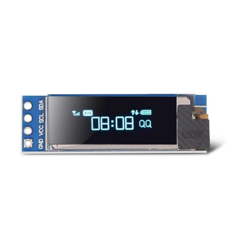 0.91 بوصة OLED وحدة أبيض أزرق اللون 128X64 OLED شاشة LCD LED وحدة ل اردوينو 0.96 I2C IIC المسلسل مع حافظة