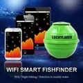 Fortunato FF916 Ecoscandaglio Sonar Wireless WIFI Fish Finder 50 M/130ft di Pesce di Mare di Rilevare Finder Per IOS Android Wi-Fi fishfinder + Carica Auto