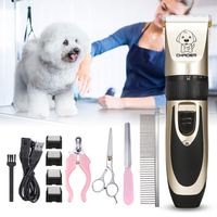 BaoRun Profession Pet Cat Dog Hair Trimmer Dog Grooming Kit Rechargeable Clipper Haircut Machine with Nail Clipper Scissors