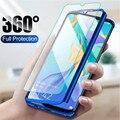 Чехол с полным покрытием 360 градусов для телефона Huawei Y5 Y6 Y7 Prime 2018/2019 Honor 8C 8A 8X 7A 7C Pro 8 9 Lite 10 P Smart 2019, чехол со стеклом
