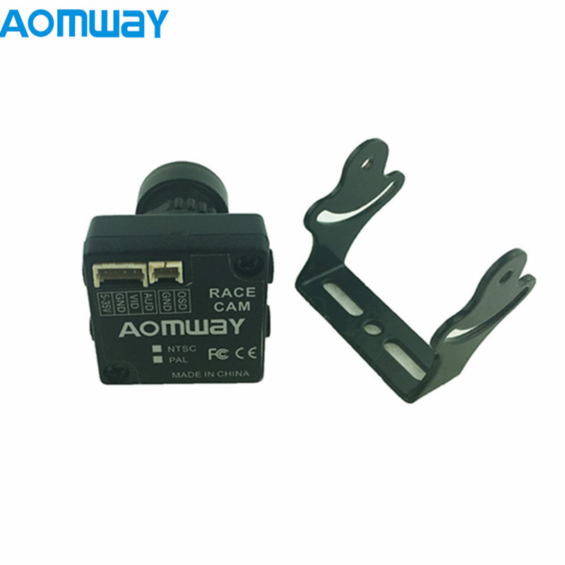 Aomway Racecam 2.8mm 650TVL CCD 100 Degree FOV PAL/NTSC FPV Camera for RC Drone Multicopter Goggles Frame Part Accs aomway 700tvl hd 1 3 cmos fpv camera pal