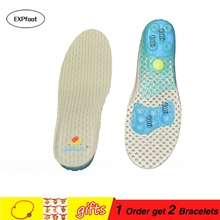 Spring Silicon Gel Insoles Foot Care for flat foot arch support orthotic Running Sport Insoles Shock Absorption Pads for adult