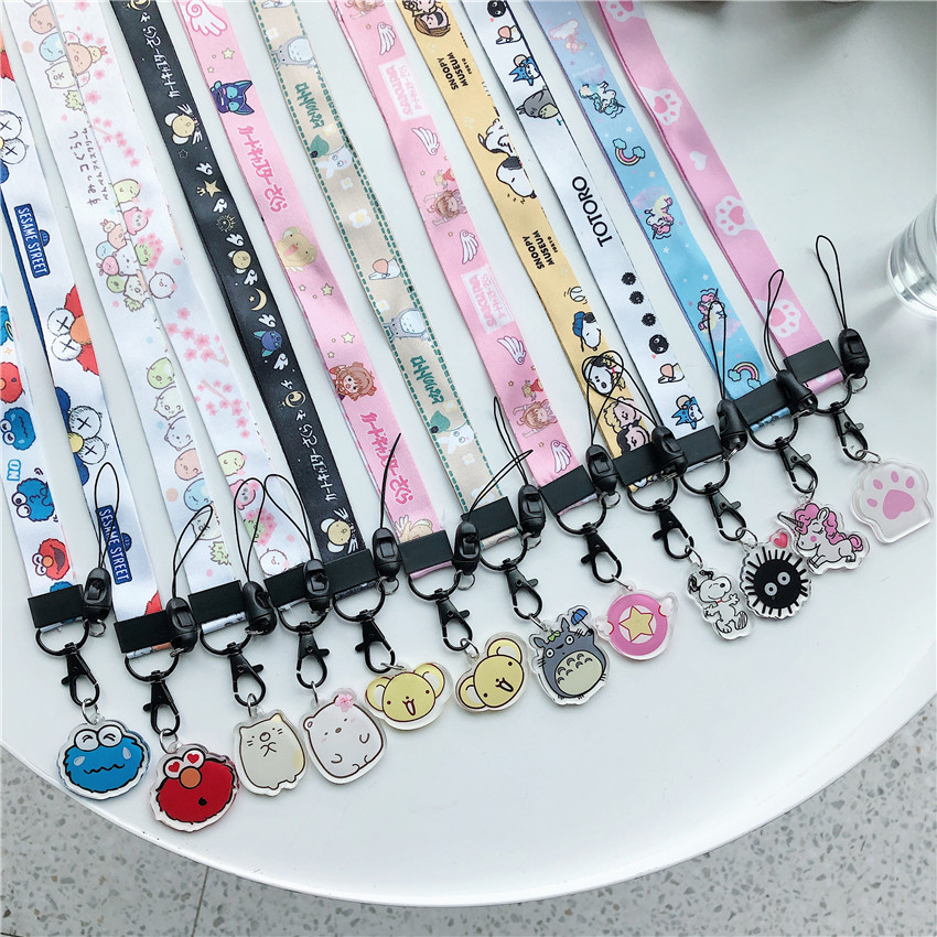 Mobile Phone Strap Lanyard Neck Strap For Keys ID Card USB Badge DIY Hang Rope Cartoon Cute Diy Accessories For Airpods Case