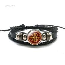 Модные очаровательные браслеты Мандала Любовь Стеклянный кабошон