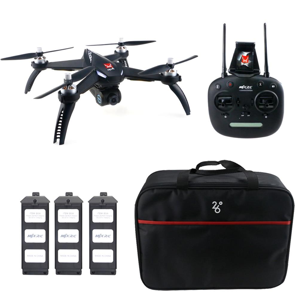 MJX B5W GPS 1080 P WiFi FPV drone rc-RTF 3 Batteries + Sac Point de Intéressant Suivre Waypoint quadrirotor