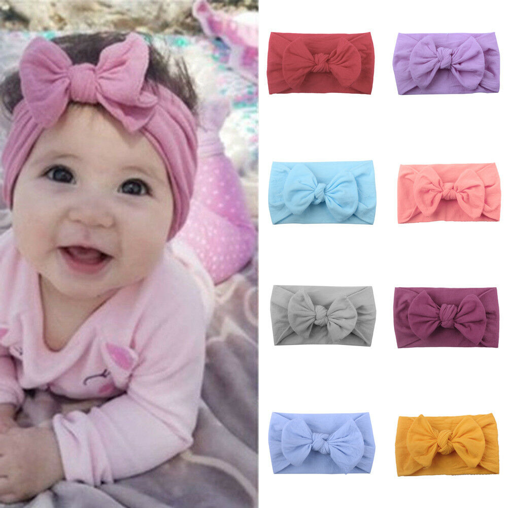 Kids Girls Baby Cute Toddler Bow Headband Hair Band Accessories Headwear